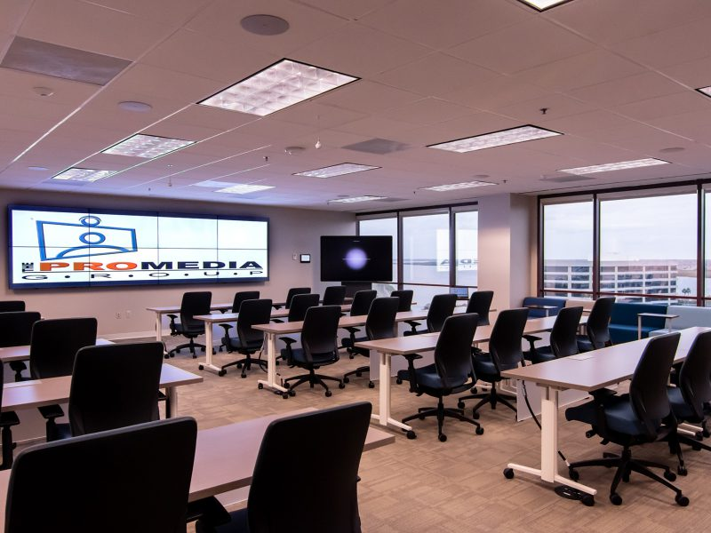 video wall conference room